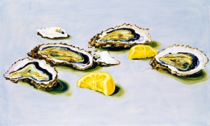 "Cornelius Völker, ""Oysters,"" oil on canvas, 2004"
